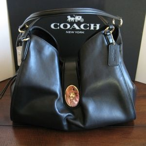 Coach Smooth Leather Carlyle Shoulder Bag F37637